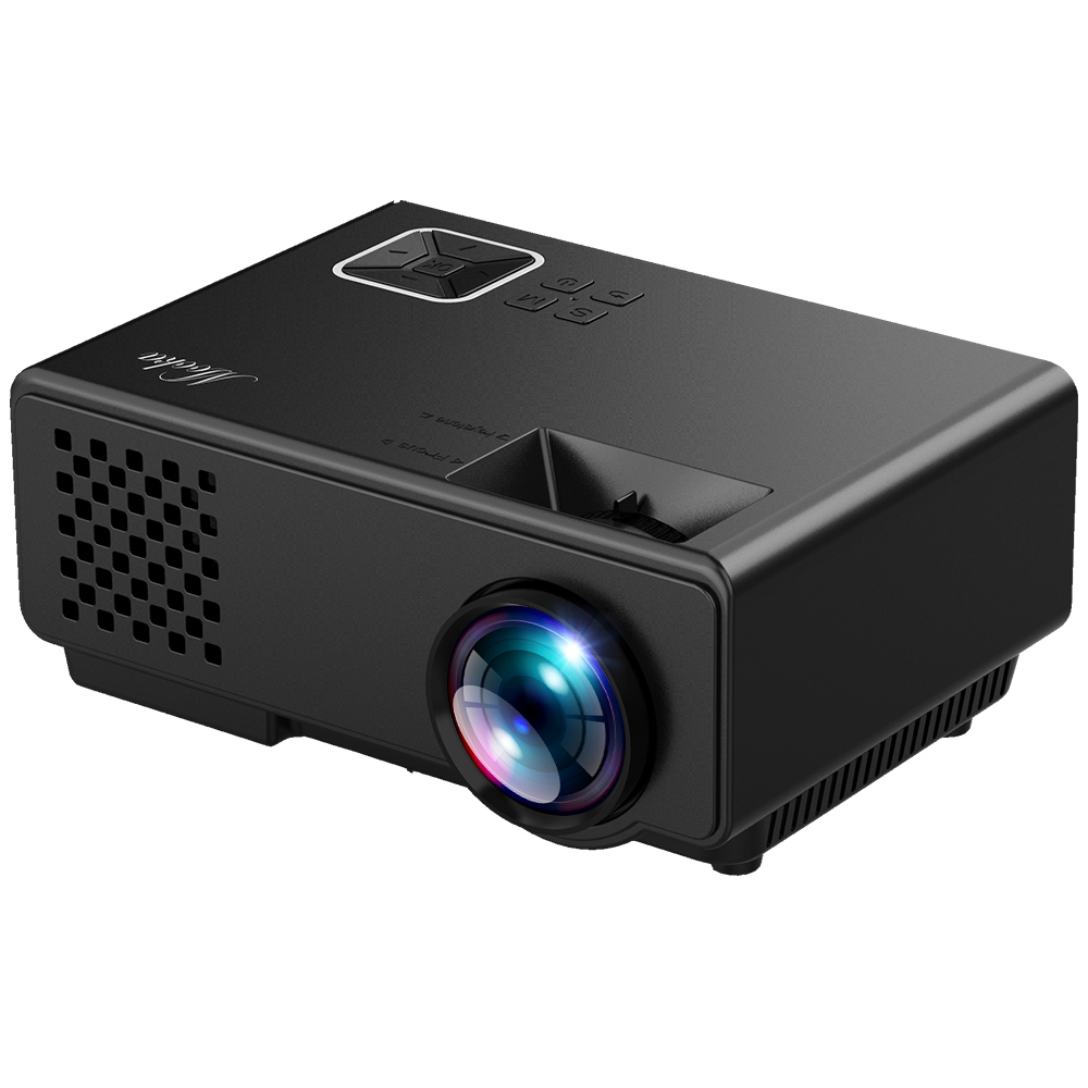 Projector, MOOKA Mini Projector, Full HD 1080P Supported Video Projector,50,000Hour LED Portable Projector Compatible with DVD,HDMI,VGA,USB,AV,SD for HomeTheater